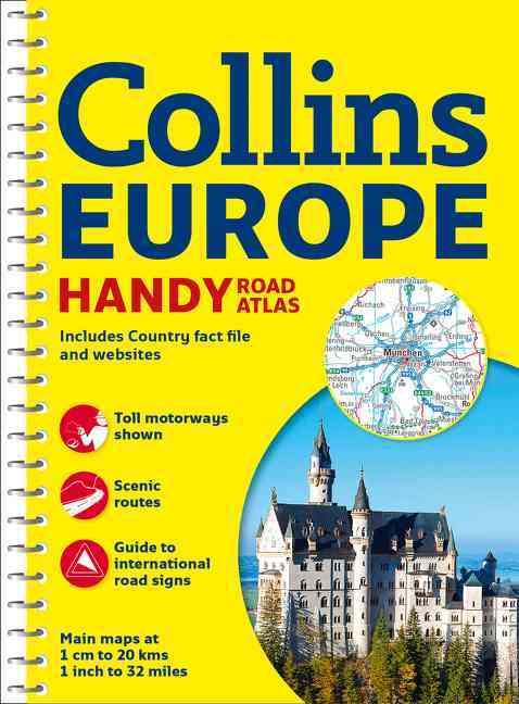 Collins Europe Handy Road Atlas By Collins Maps (COR)